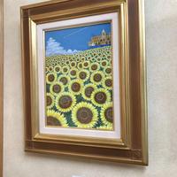 「夏の光景」テンペラ画