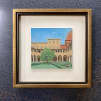 「メディチ家の回廊庭園」板絵テンペラ画