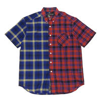 ROLLINGCRADLE HALF and HALF BIG SHIRT / CHECK