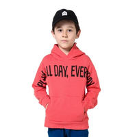 play all day hoody / red (130cm~150cm)