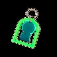 前方後円墳 Key Ring