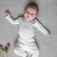 Bebe Organic / Heart onesie - White