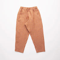 Nellie Quats / Jumping Jack Trousers - Rose & Caramel Check Linen 18-24M / 3-4Y