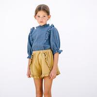 liilu / Stella Blouse - Ocean Blue