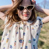 oeuf / Short Sleeve Blouse - Gardenia