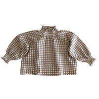 liilu / Smocked Blouse - Check