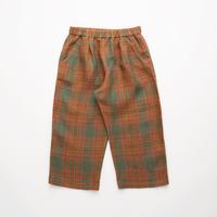 Nellie Quats / Chess Trousers  - Redwood Tartan Linen 3-4Y