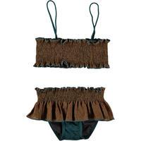 belle chiara / Bikini LINO+LYCRA Ocre + Ciprés