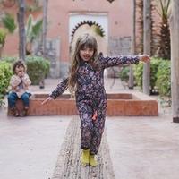 Louise Misha / JUMPSUIT AZKAN - BLACK FLOWER 4Y