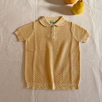 FUB / Pointelle T-shirt - DESERT SUN