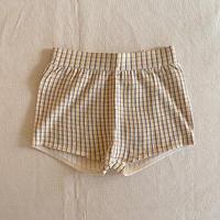FUB / Checked Shorts - ECRU/DESERT SUN