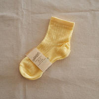 Collégien / Antoinette Lightweight Pointelle Summer Socks - Buttercup