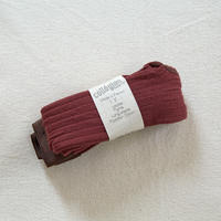 Collégien / Ribbed tights - Chestnut