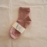 Collégien / Antoinette Lightweight Pointelle Summer Socks - Rose