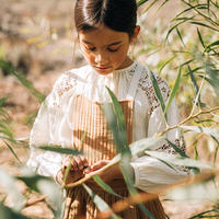 liilu / Folk Sofia Blouse - Milk  6Y