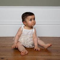 Bebe Organic / Madeline romper dress - Natural white