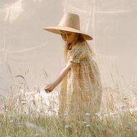 Nellie Quats / Marbles Dress - Hay Plaid Linen