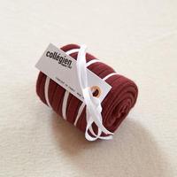Collégien / La Haute Ribbed Knee-High Socks - Chestnut