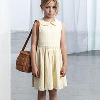 tocoto vintage / Vichy squares open-back dress