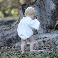 na pa ani / CARMENCITA BABY ROMPER - Organic cotton gauze natural