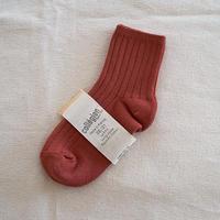 Collégien / La Mini Ribbed Ankle Socks - Tomato