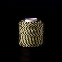 光る安全ロープ 太さ 6.8mm  100m巻き 色:イエロー・ブラック
