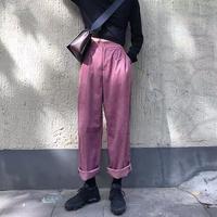 クリーンカラー9分丈ズボン