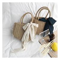 シンプルハンドメイド織りハンドバッグ