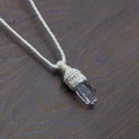 ヒマラヤ水晶ネックレス パールヴァティ(インド)産【スモーキークオーツ】