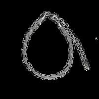 chain bracelet / silver