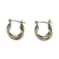 Double hoop pierces  / gold