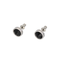 Swarovski pierces / black