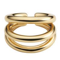 Volume ear cuff ring / gold