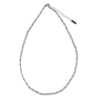 Braid chain necklace  / silver