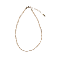 Braid chain  choker  / gold