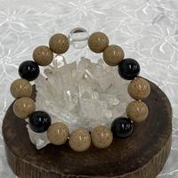ヒマラヤ水晶・北投石・モリオン ブレスレット