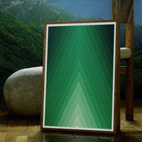 Mountain Poster / summer Green