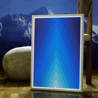 Mountain Poster / winter blue