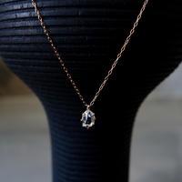 ハーキマーダイヤモンドネックレス(M)K18YG