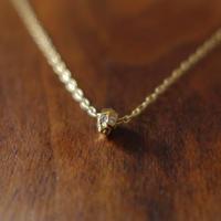 ドクロネックレス  K18YG×ダイヤモンド