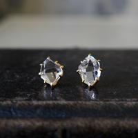 ハーキマーダイヤモンドピアス(L)K18YG