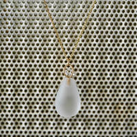 Quartz bottle necklace