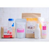 送料無料<Happybag食>卑弥呼の玄米・甘酒・健康茶・コラーゲン・ドレッシングのセット