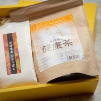 【ギフトやプレゼントに♡】卑弥呼の健康茶とお米2合のセット 化粧箱