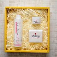 【ギフトやプレゼントに♡】卑弥呼の米ぬか美容セット(シャンプー・石鹸・馬油クリーム)化粧箱入り