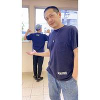 秘密兵器胸ポケット付きTシャツ[ネイビー]