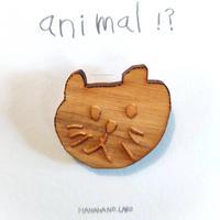 【HAHAHANOLABO・猫ブローチ】