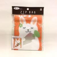 【ジップバッグ・ウサギ】TSUTSUMU