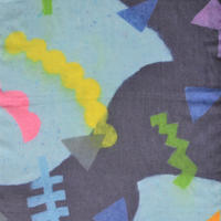 にしむらあきこ 和紙造形ストール 『 夜の耳 』