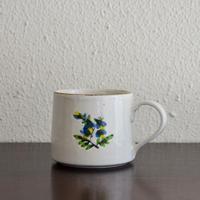 松本郁美  白磁掻き落とし コーヒーカップ(オンシジューム)